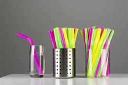 Ingrosso 2000 pezzi 12 * 210 mm extra largo cannuccia flessibile per frullati spessi Boba Bubble tè frullati grassi bevande cannucce monouso colorato