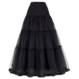 $enCountryForm.capitalKeyWord Australia - Women Black Red Retro Skirt For Wedding Fashion Vintage Long Skirts Crinoline Underskirt Ball Gown Empire Voile Tulle Petticoat Y19060301