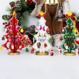 Christmas deCor for outdoor online shopping - DIY Christmas Tree Pendant Drop Ornaments for Kids Door Wall Hanging Xmas Decor New Year Gift Outdoor Christmas Decorations