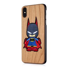 Navy Blue Iphone Cases UK - Cherry Wood Phone Case For Iphone X Xs Max XR 8 7 6 Plus Spiderman Batman Superman Cartoon Character Hulk Peking Opera Protective Hard Shell