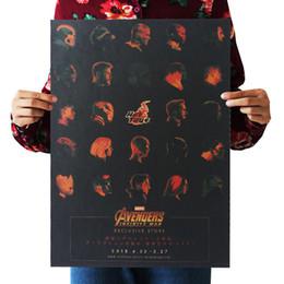 Bar Paintings UK - WXH 3: Infinity War  Marvel hero 09 kraft paper bar poster Wall stickers  Retro Poster decorative painting 51x35.5cm