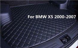 Toptan satış El yapımı Su Geçirmez Araba Arka Kargo Boot Trunk liner Mat Pad Yeni BMW X5 2000-2007 Için