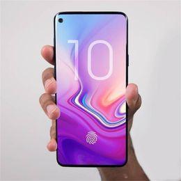 Großhandel 3000mAh 6.3inch Goophone S10 plus Iris Fingerprint setzen MT6580T 3G 1900 Erscheinen gefälschtes 4G LTE 64GB intelligentes Telefon frei DHL frei