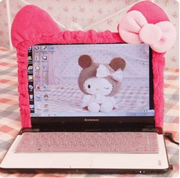 decoration laptop Australia - Cute Kitty Cat Cartoon Elastic Laptop Screen Dust Proof Cover LED Computer Cover Set Anti-Dust Protective Case.Home Decoration