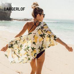 $enCountryForm.capitalKeyWord Australia - Cover Up The Swimsuit Capes For Beach Bathing Suits Women Print Lemon Beachwear 2018 Beach Outings BK39168