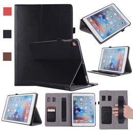 Genuine Leather China Australia - Classic REAL Genuine Leather Tablet ipad Case For iPad 5 6 AIR 9.7 Cover Case with Stand Shockproof Leather Tablet case