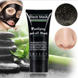 blackheads removing creams 2019 - Black Suction Mask Anti-Aging 50ml SHILLS Deep Cleansing purifying peel off Black face mask Remove blackhead Peel Masks