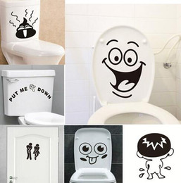 $enCountryForm.capitalKeyWord Australia - Funny Smile Bathroom Wall Stickers Toilet Home Decoration Waterproof Wall Decals For Toilet Sticker Decorative Poster Home Decor
