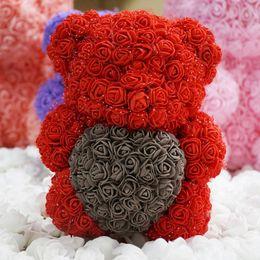 Girls Toy 25cm Romantic Birthday Gift For Girlfriend Rose Bear Dog Rabbit Wedding Anniversary Valentines Day Present