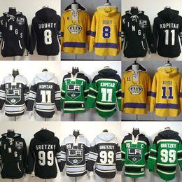 $enCountryForm.capitalKeyWord Australia - Hot Sale Mens Los Angeles Kings 8 Drew Doughty 11 Anze Kopitar 9 Wayne Gretzky Black Green Yellow Cheap Ice Hockey Hoodies