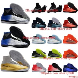 cheap neymar soccer cleats Canada - cheap cr7 soccer cleats Mercurial Superfly V SX Neymar TF indoor soccer shoes cristiano ronaldo football boots leather size 39 - 46 Hot