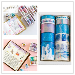 Decorative Paper Rolls Australia - Japanese cartoon movie sticker Creative decorative washi paper glue tape for handbook pen decoration 10 rolls packing 2016