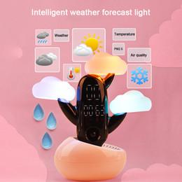$enCountryForm.capitalKeyWord Australia - Wake-up remote control intelligent induction alarm clock children's gift creative cloud weather forecast time small night light