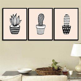 Discount pop art canvas prints - Prints Picture Quote HD Posters Wall Cartoon Planet Cactus Simple Nordic Canvas Painting Abstract Photo Pop Art Decorati