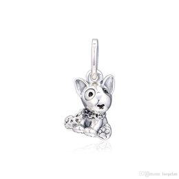 China 2019 Mother's Day 925 Sterling Silver Jewelry Bull Terrier Puppy Charm Beads Fits Pandora Bracelets Necklace For Women DIY Making cheap fit bull suppliers