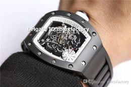 $enCountryForm.capitalKeyWord Australia - Z New Luxury 055 Watch Swiss 8215 Automatic Sapphire Crystal ATPT Black Ceramic Case Skeleton Dial Luminous Spline Screws Sport Mens Watch