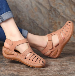 fashion sandals wholesale NZ - Summer Women's Sandals Shoes Ladies Comfortable Ankle Hollow Round Toe Sandals Soft Sole Shoes Fashion Sandalias Mujer 2019