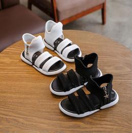open baby sandals 2019 - 2019 girls sandals flat princess sandals Korean version of the big children girl shoes students open toe baby cool virgi
