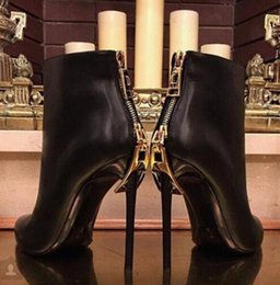 $enCountryForm.capitalKeyWord Australia - Hot Sale Winter Sexy Black Heel Ankle Boots Stilettos High Heels Back Zip Gladiator Shoes Woman Motorcycle Boots Tide