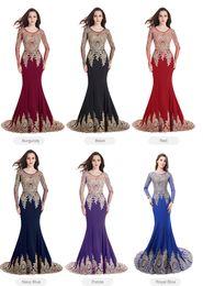 China fashion blaCk laCe dress online shopping - Robe de Soiree Dubai Black Long Sleeve Mermaid Evening Dresses Formal Party Prom Gowns China Vestido Longo Longue Real Kaftan PS404