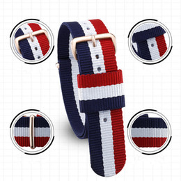 Discount dw watch bands Wholesale Price Multi Color for DW Watch Band High Quality Nylon Watch Strap Fashion DW Nylon Bands Watch Accessories 18