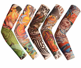 tattoo bodies NZ - Tattoo Sleeve Flower Arm Sleeve Tattoo Designs Body Arm Stockings Tattoo For Cool Men Women Summer Riding Sports Sun-proof Hand Sleeve