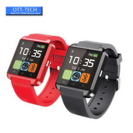 u8 touch screen smart watch Australia - U8 Bluetooth Smart Watch Touch Screen Wrist Watches For iPhone 7 IOS Samsung S8 Android Phone Sleeping Monitor Smartwatch With Retail Box