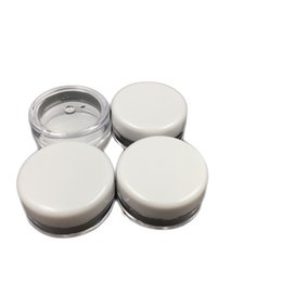 $enCountryForm.capitalKeyWord Australia - Free shipping White Lid 5ML PS Cream Jar,Mini Cosmetic Cream Sample bottle Container Display Case Cosmetic Packaging 5g Mini plastic bottle