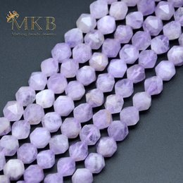 $enCountryForm.capitalKeyWord Australia - Natural Stone Faceted Amethysts Round Beads For Jewelry Making 8mm 10mm Purple Crystal Gem Loose Beads diy Bracelet Wholesale