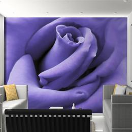 $enCountryForm.capitalKeyWord Australia - Custom 3D Photo Wallpaper Modern Designs Purple Rose Flower Mural Living Room Bedroom Photography Background Wallpaper Murals 3D