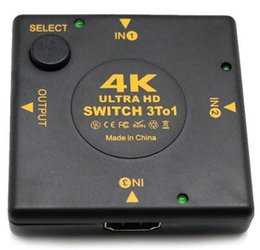 ipad box UK - New 4K HDMI Switch Box Selector 3 In 1 Out kvm Audio Extractor Hub Splitter Switcher