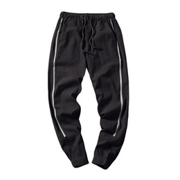Mens capris wholesale online shopping - feitong men s loose leisure nine points harun pants mens elastic small feet casual ankle length polyester soft light pant g40