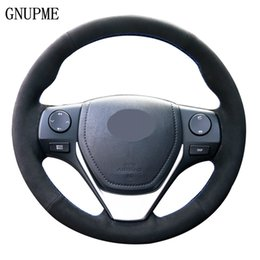 toyota corolla steering wheel Australia - Black Suede Leather Car Steering Wheel Cover for Toyota 2013-2018 Toyota Corolla 2014-2019 Corolla iM (US) 2017-2018 Auris