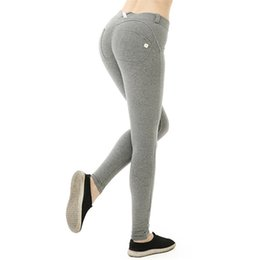 tight grey yoga pants UK - Autumn and Winter Sports Pants Ladies Slim Hip-lifting Sports Fitness Pants Yoga High Stretch Tight Peach Pants