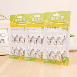 $enCountryForm.capitalKeyWord NZ - T White Brute Force Multipurpose Sticking Hook 6 Individual Dress Towel A Hook More Function Peg