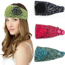 526fda15b5c 100pcs Fashion Autumn Winter Woolen Headband Knitted Crochet Earmuff Warm  Turban Hair Band Headwrap For Women Adult