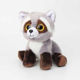 $enCountryForm.capitalKeyWord UK - 15CM New Ty Beanie Big Eyes Stuffed Animals Raccoon bear panda Pig Plush Toys Plush For Children girl Christmas New Year Gifts