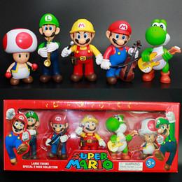 $enCountryForm.capitalKeyWord NZ - Music Super Mario Bros Bowser Luigi Koopa Yoshi Mario Car Toad Peach Princess Odyssey PVC Action Figure Model Dolls Toys