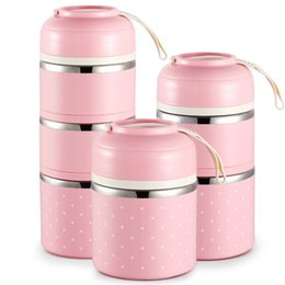 Chinese  Cute Japanese Thermal Lunch Box Leak-Proof Stainless Steel Bento Box Kids Portable Picnic School Food Container Box Kitchen Tool C18122201 manufacturers
