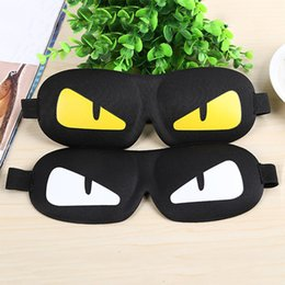 Großhandel 2 stücke 3D Cartoon nette Augen schlafmaske schlafmasken Für Reisen Nachtruhe besser schlafmittel Atmungsaktive Augenbinde augenschutz abdeckung