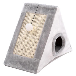 Triangle Bedding UK - Creative Pet Dog Bed Warming Dog Lovely House Triangle Shape Beds Cat Nest Warm Soft Foldable House