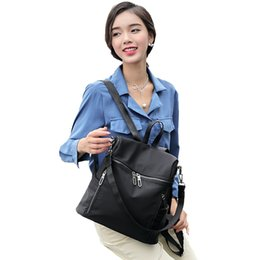 Korean new product online shopping - xford cloth backpack leisure one shoulder travel bag Fashion double shoulder bag female new product Korean version tide simple