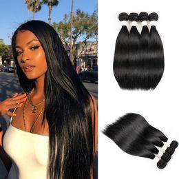$enCountryForm.capitalKeyWord Australia - #1B 8A Brazilian Virgin Straight Human Hair Bundles Indian Peruvian Hair bundles 5 or 10 Bundles 10-22 Inch Remy Human Hair Extensions