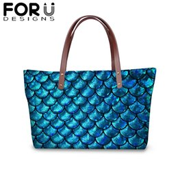 $enCountryForm.capitalKeyWord Australia - 2019 Waterproof Large Street Shoulder bag for Women Novel Fish Scale 3D Print Shopping HandBag Female Fashion Protable Purse
