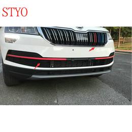 $enCountryForm.capitalKeyWord Canada - STYO Car Front Net Grill Sticker Strips Garnish trim For Karoq 2017 2018