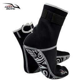 NeopreNe diviNg socks online shopping - KEEP DIVING Professional MM Neoprene Scuba Dive Socks Wetsuit Material Shoes Snorkeling Equipment Winter Swim Warm Boots XS XXL