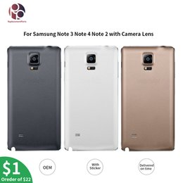 $enCountryForm.capitalKeyWord Australia - OEM Housing Battery Back Cover Replacement for Samsung Galaxy Note 4 N910F Note 3 Note2 Note4 edge Housing Case with Camera