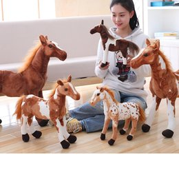 $enCountryForm.capitalKeyWord NZ - Plush Simulation Horse Toy 4 Styles Stuffed Animal Doll Baby Kids Birthday Gift Home Shop Decor