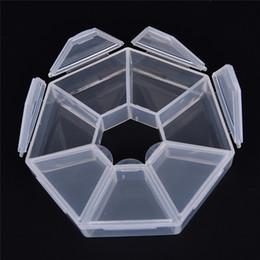 $enCountryForm.capitalKeyWord Australia - 7 Slot Acrylic Organizer Container Box 7 Lattices Plastic Storage Box Case Beads Jewelry Display 4pcs set