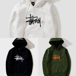 Groihandel Neue Art und Weise Warmer Hoodie Stickerei Männer Frauen Mode Sweatshirts mit Kapuze Herren Skateboard PulloverHoodies Männer Hoodie